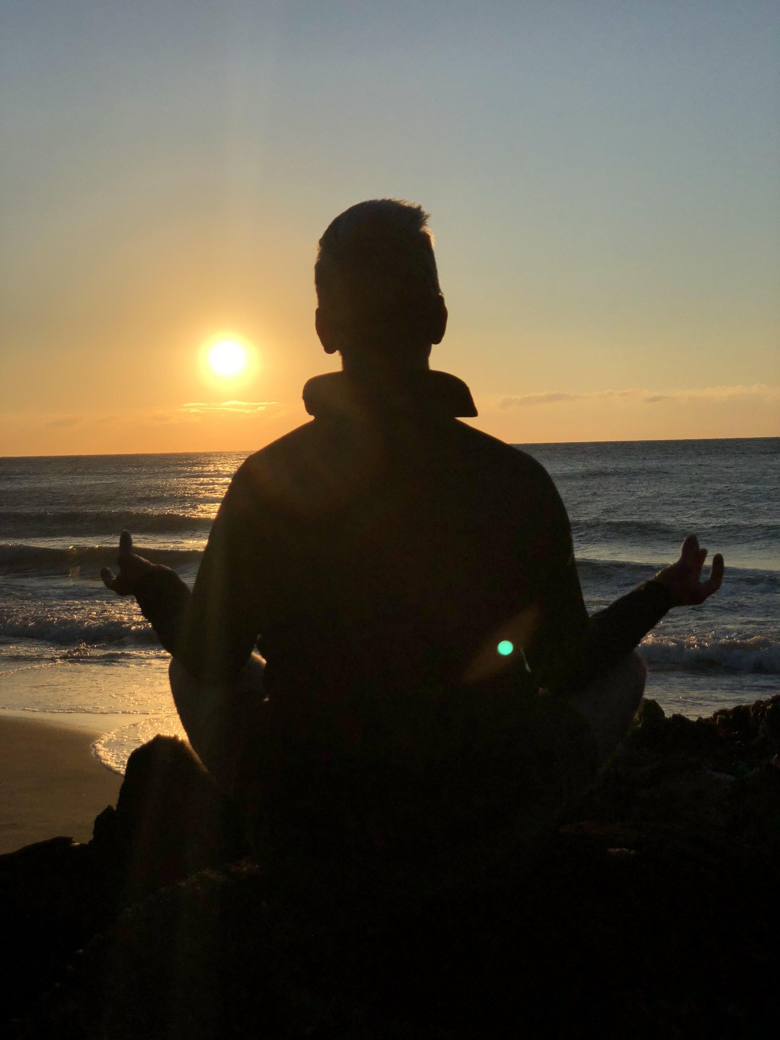 My morning meditation at sunrise (Brittas Bay - Wicklow)