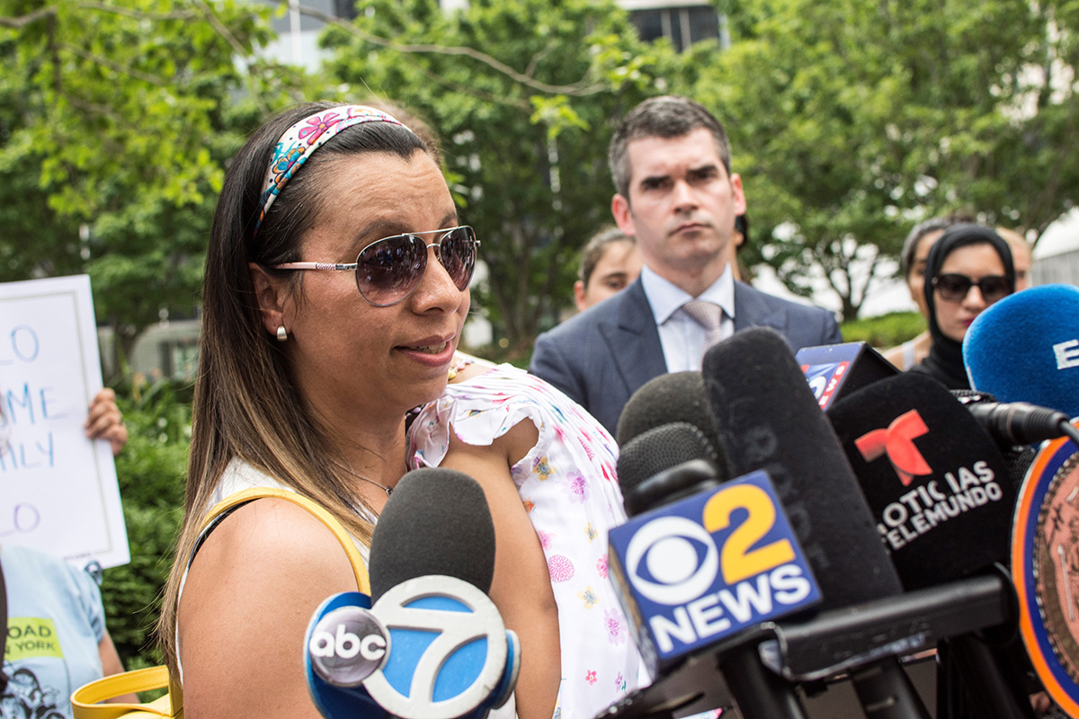 Sandra Chica, Pablo Villavicencio's wife, pleads for ICE to release her husband.