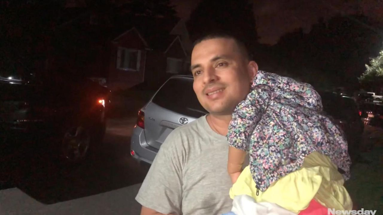 Pablo Villavicencio returning home after being freed from ICE detention. Credit: Howard Schnapp; Newsday / Chau Lam