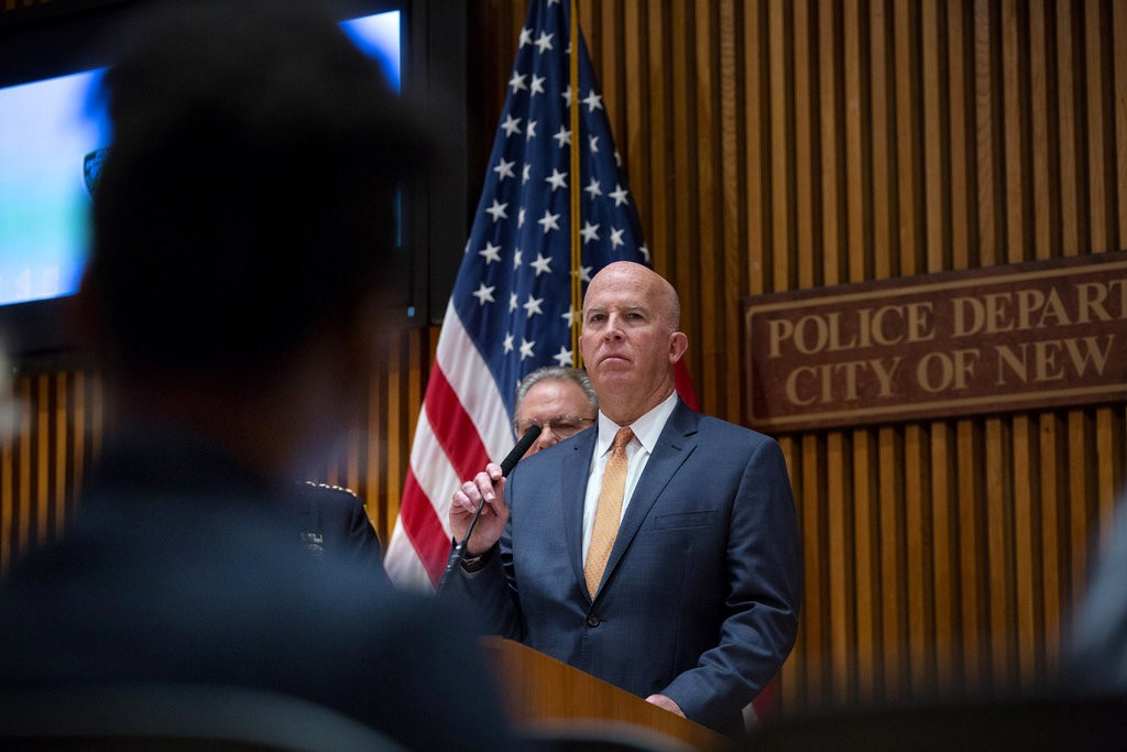 James P. O'Neill, the New York City police commissioner, said on Friday that he would support legislation to make more disciplinary files public.CreditCreditKevin Hagen for The New York Times