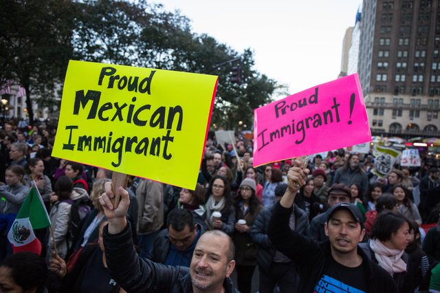 Protesters   rally against Donald Trump's immigration policies   on November 12, 2016 (Scott Lynch / Gothamist)
