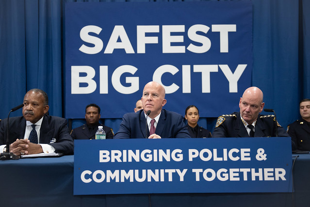 Police Commissioner James O'Neill in Queens on Monday, October 22, 2018. (Michael Appleton/Mayoral Photography Office)