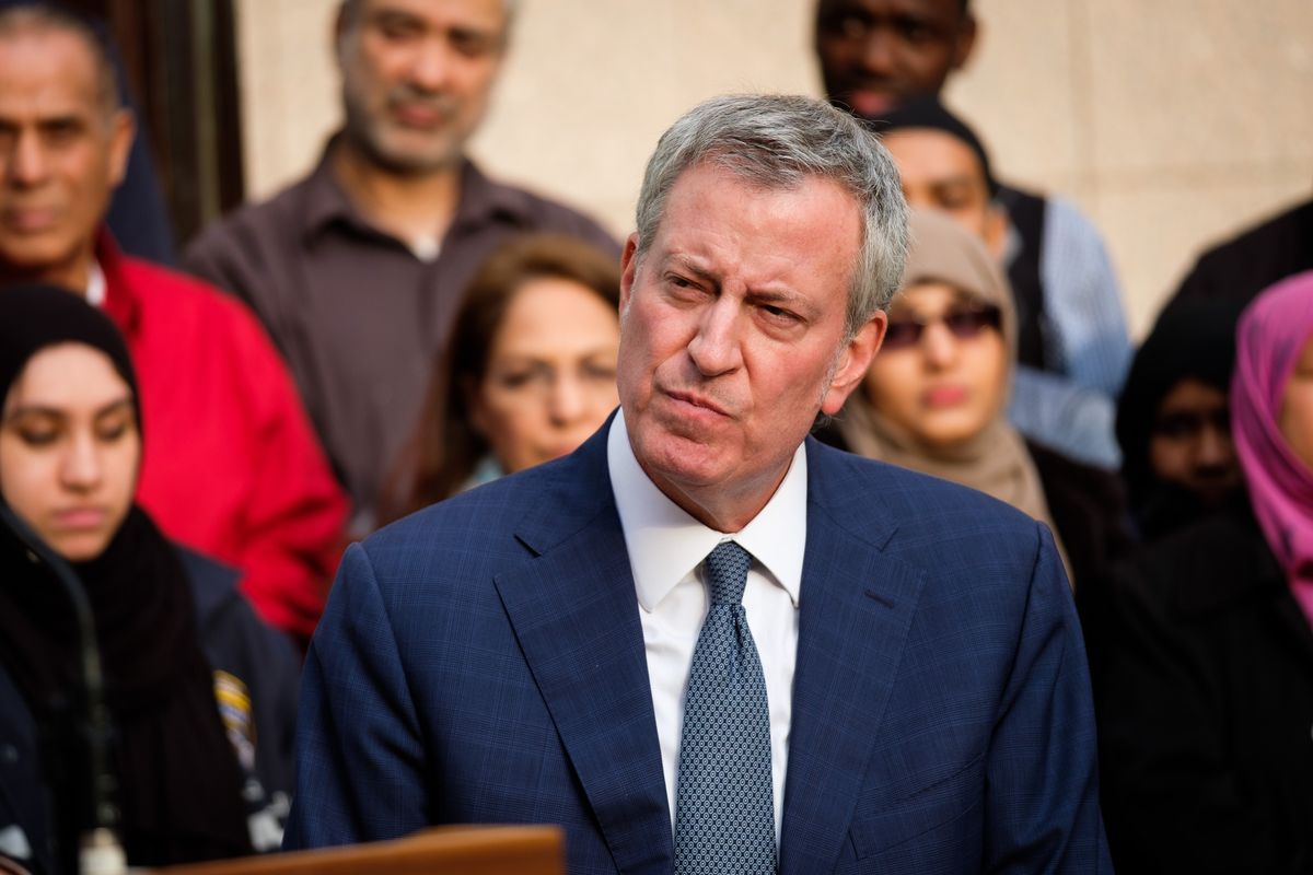 Mayor Bill de Blasio is pictured on, March 15. (Gardiner Anderson/for New York Daily News)