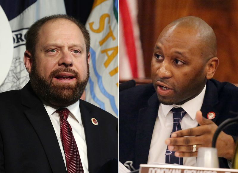 City Councilmen Rory Lancman (left) and Donovan Richards are pictured in Daily News file photos. (Jefferson Siegel/New York Daily News)