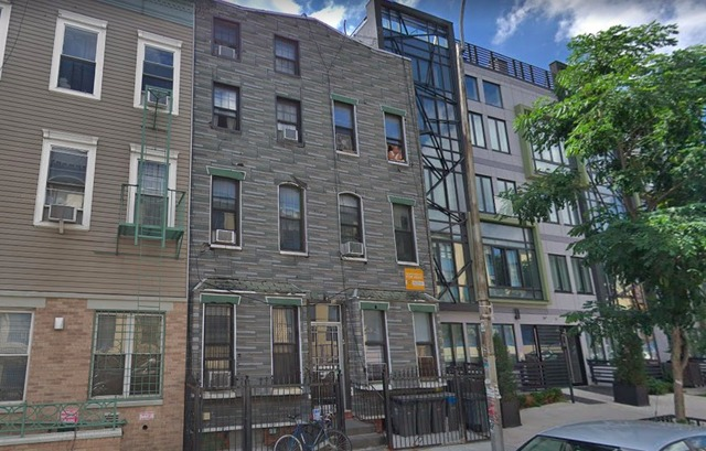The Santiago family home in Bushwick, where police allegedly confiscated a memorial urn last year. (Google Maps)