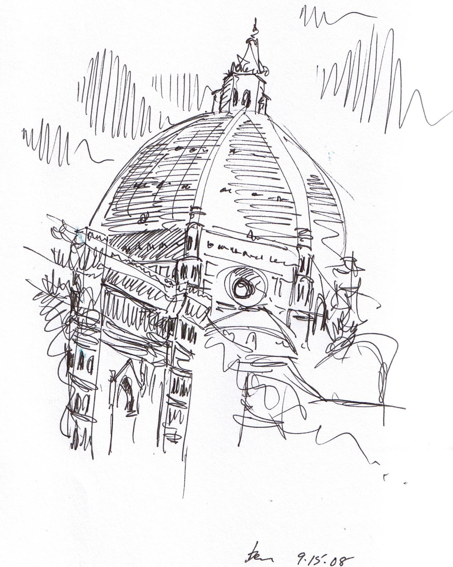from travel sketchbook…