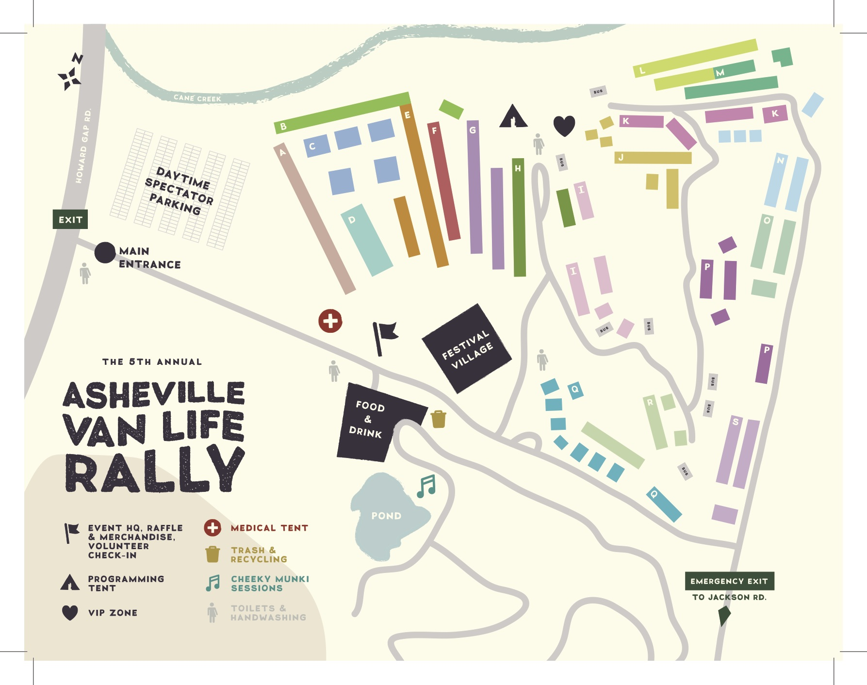 Thanks to  Skirven & Croft , check out this gorgeous event map for the 2019 Asheville Van Life Rally!