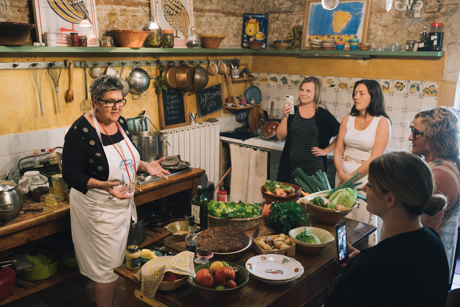 Kate in her Kitchen at Camont by  Jamie Beck