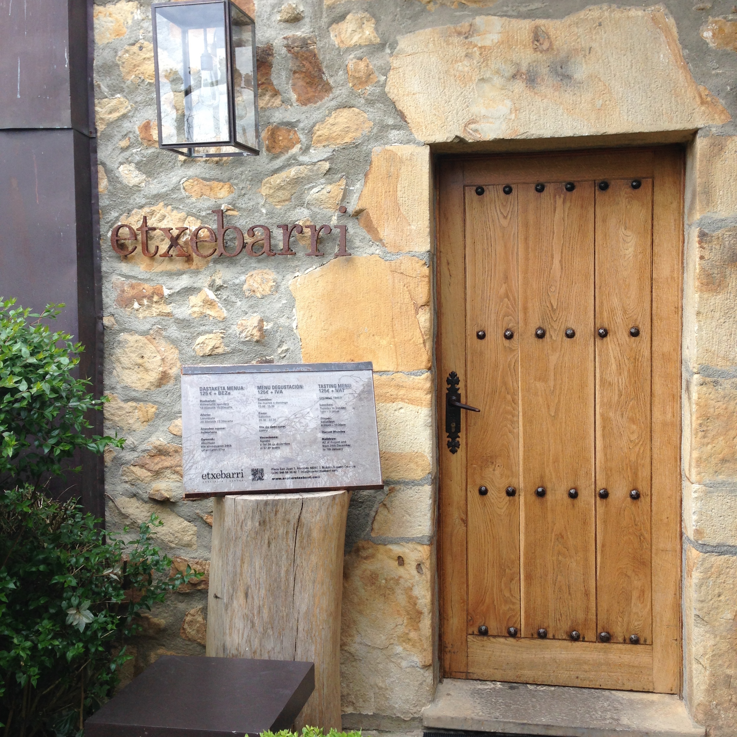 Three-Star Michelin Rural Restaurant- Asador Etxeberri in Axpe