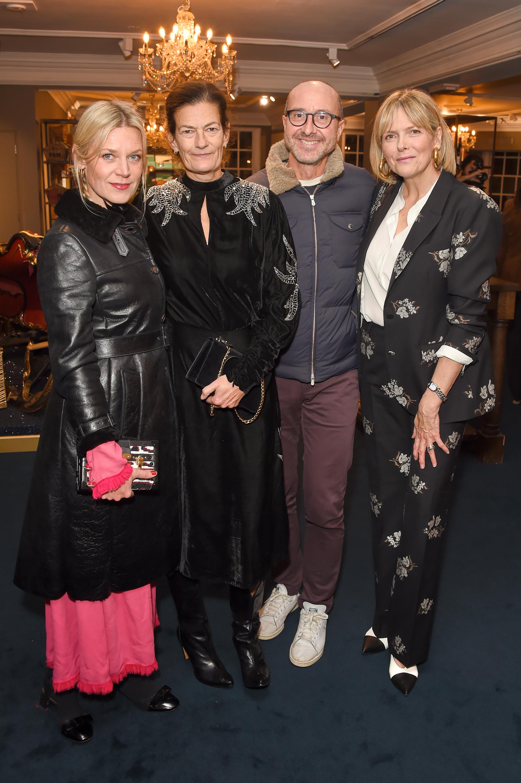 Poppy Kain, Venetia Scott, Gianluca Longo and Carol Woolton. Courtesy of Dave Benett.