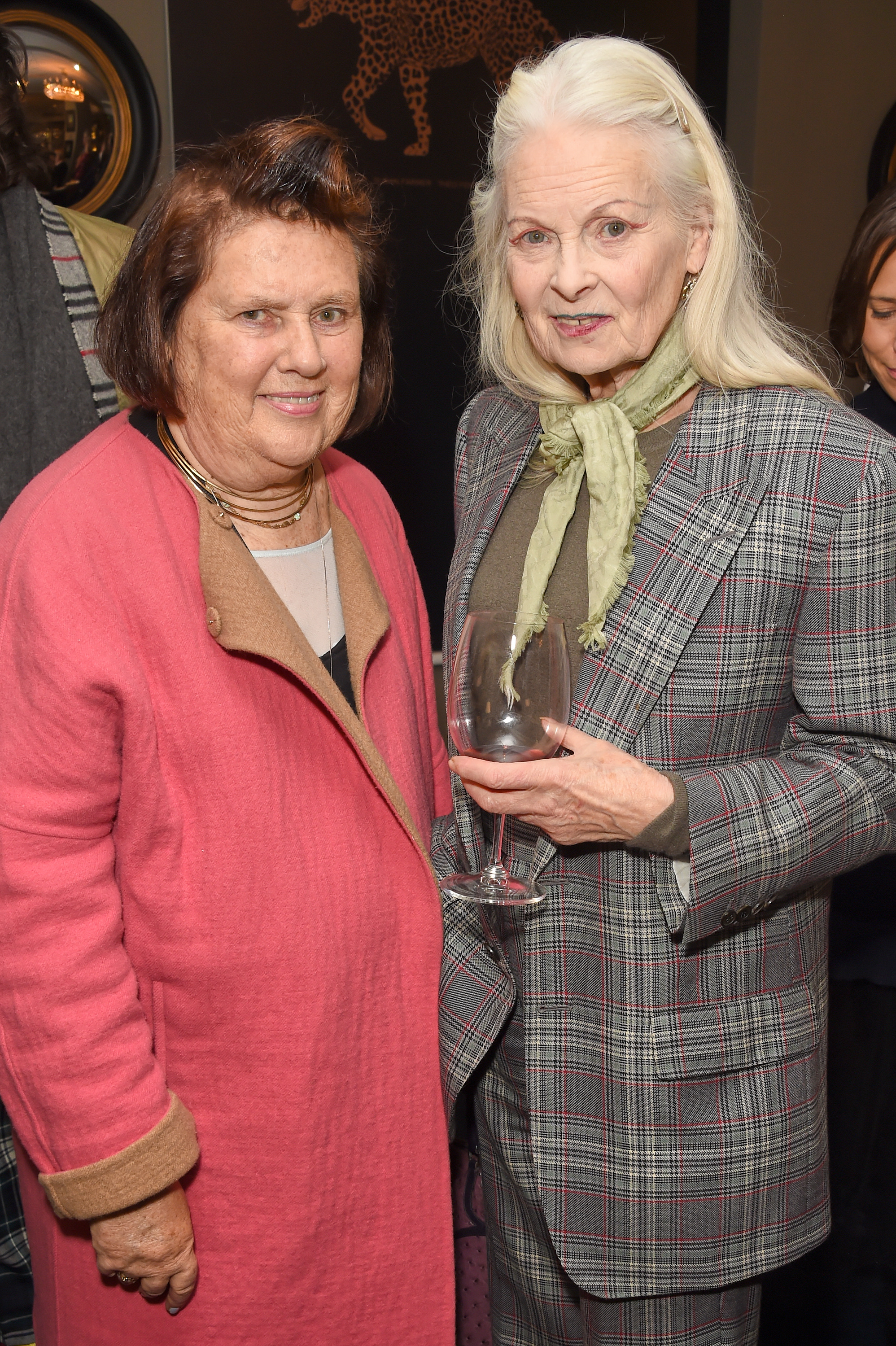 Suzy Menkes and Dame Vivienne Westwood. Courtesy of Dave Benett.