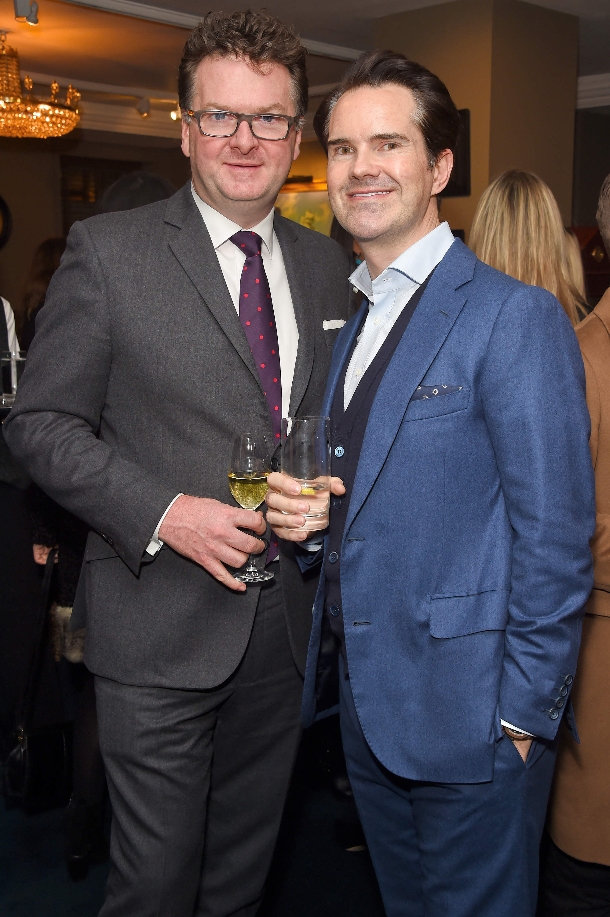 Ewan Venters and Jimmy Carr. Courtesy of Dave Benett.