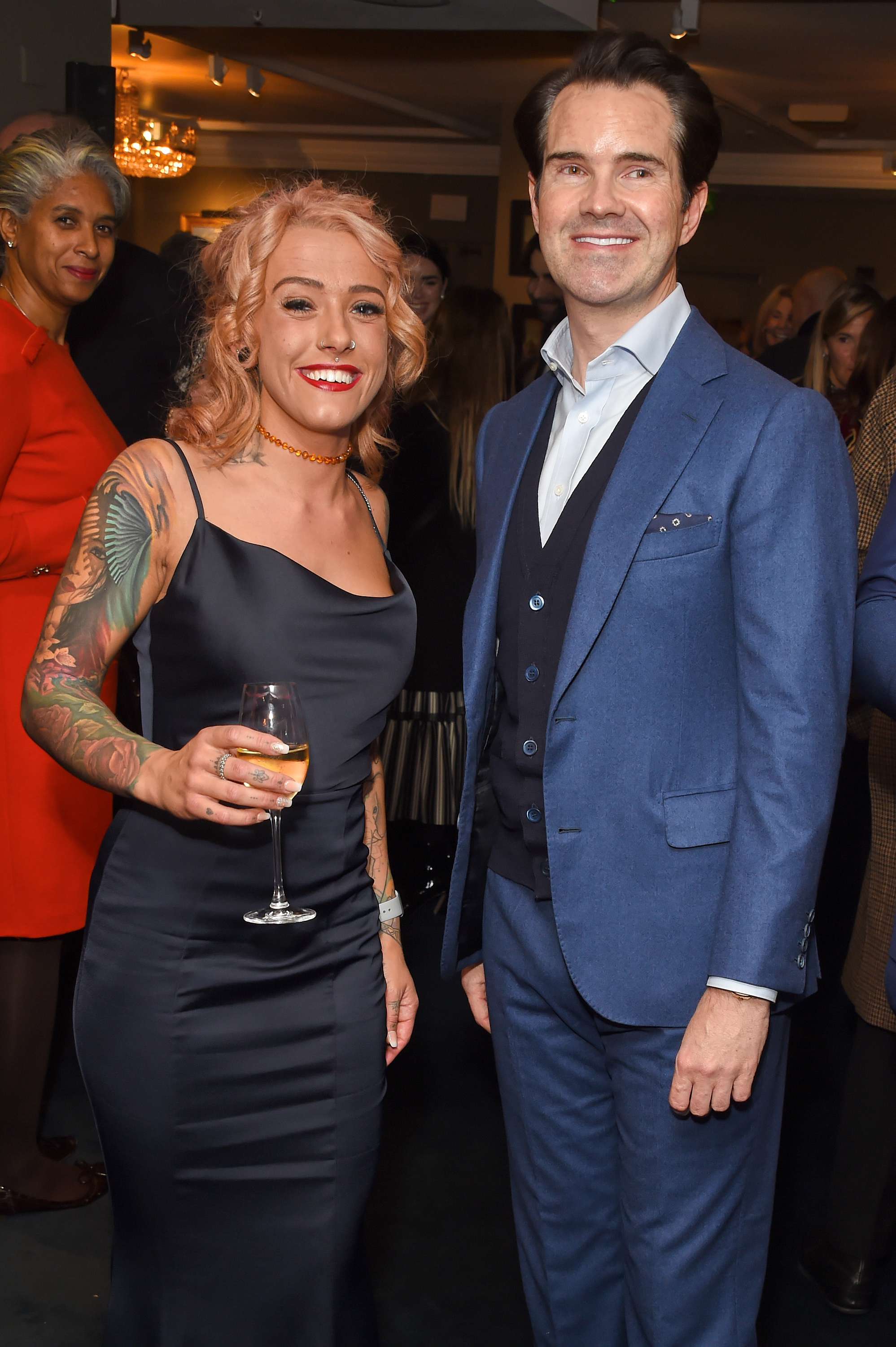 Mollie Taylor and Jimmy Carr. Courtesy of Dave Benett.
