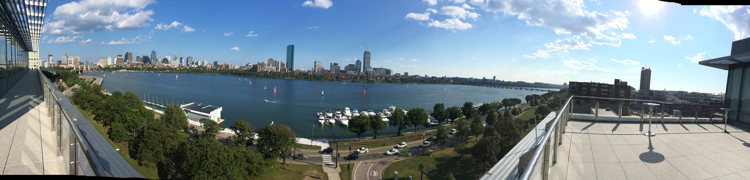 Held on the seventh floor of the MIT Sloan school, those attending enjoyed stunning views of the Boston skyline.