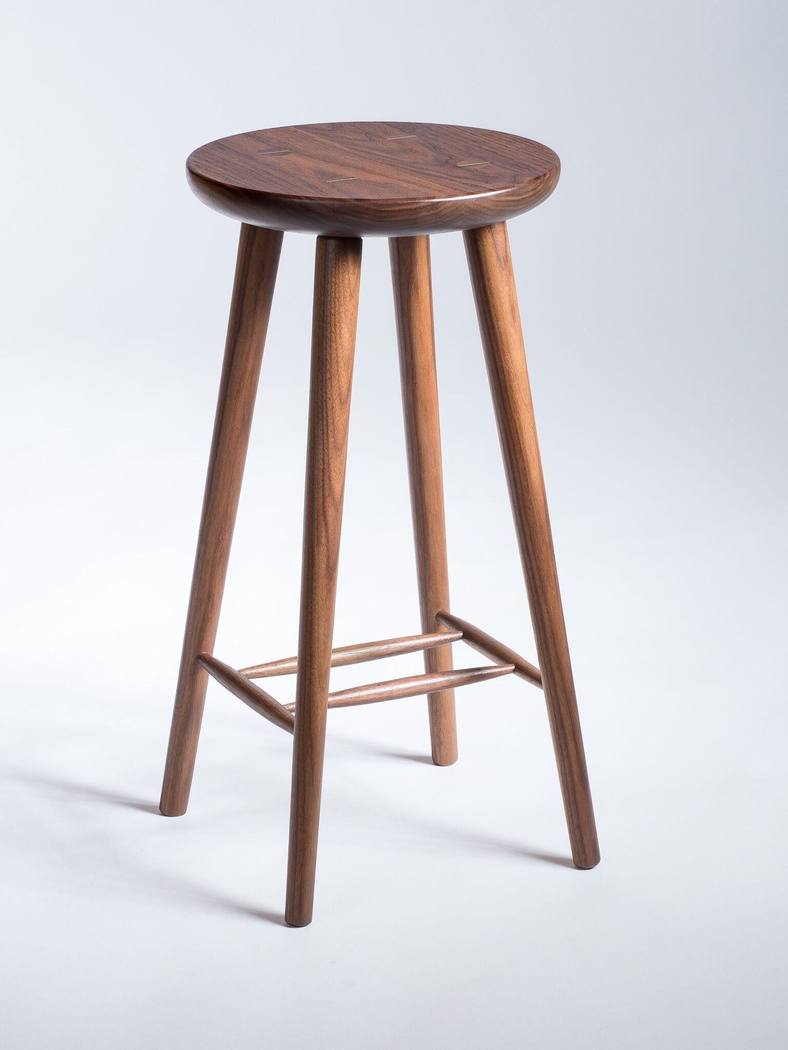 Sleek & Sturdy - Constructed with traditional mortise and tenon joinery, this modern stool was built to last.