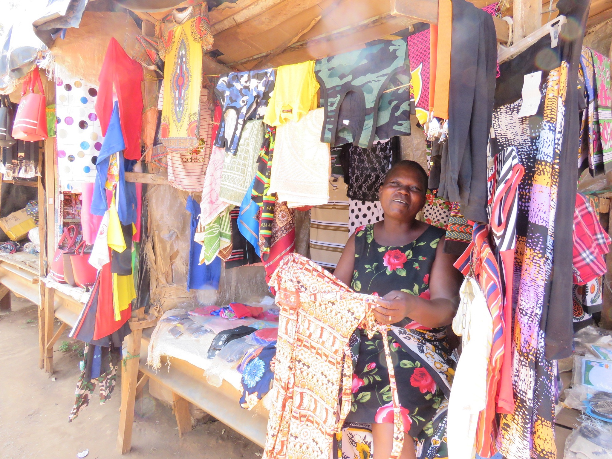 A friendly stall keeper at the Chogoria markets