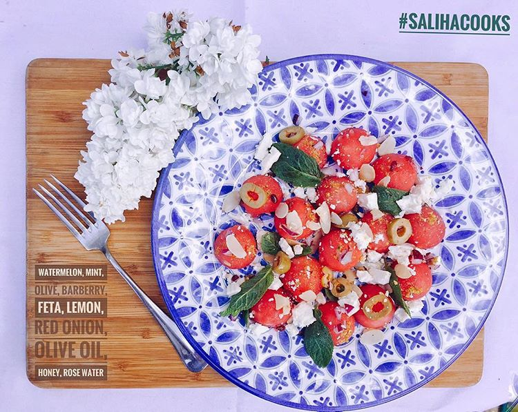 MINT, ROSE BARBERRY AND WATERMELON SALAD