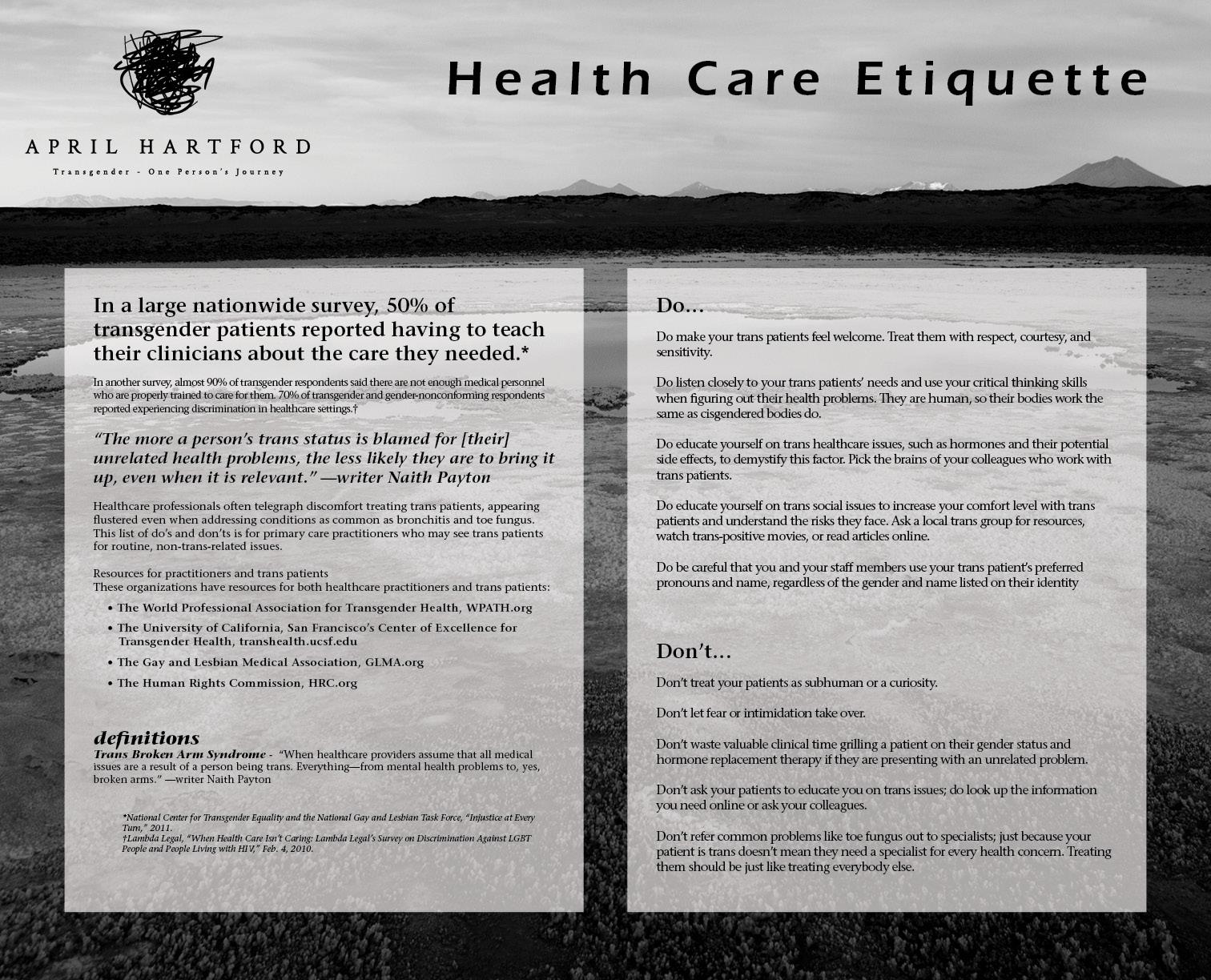 Health Care Etiquette
