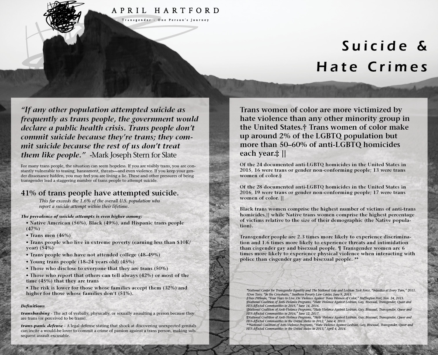 Suicide and Hate Crimes