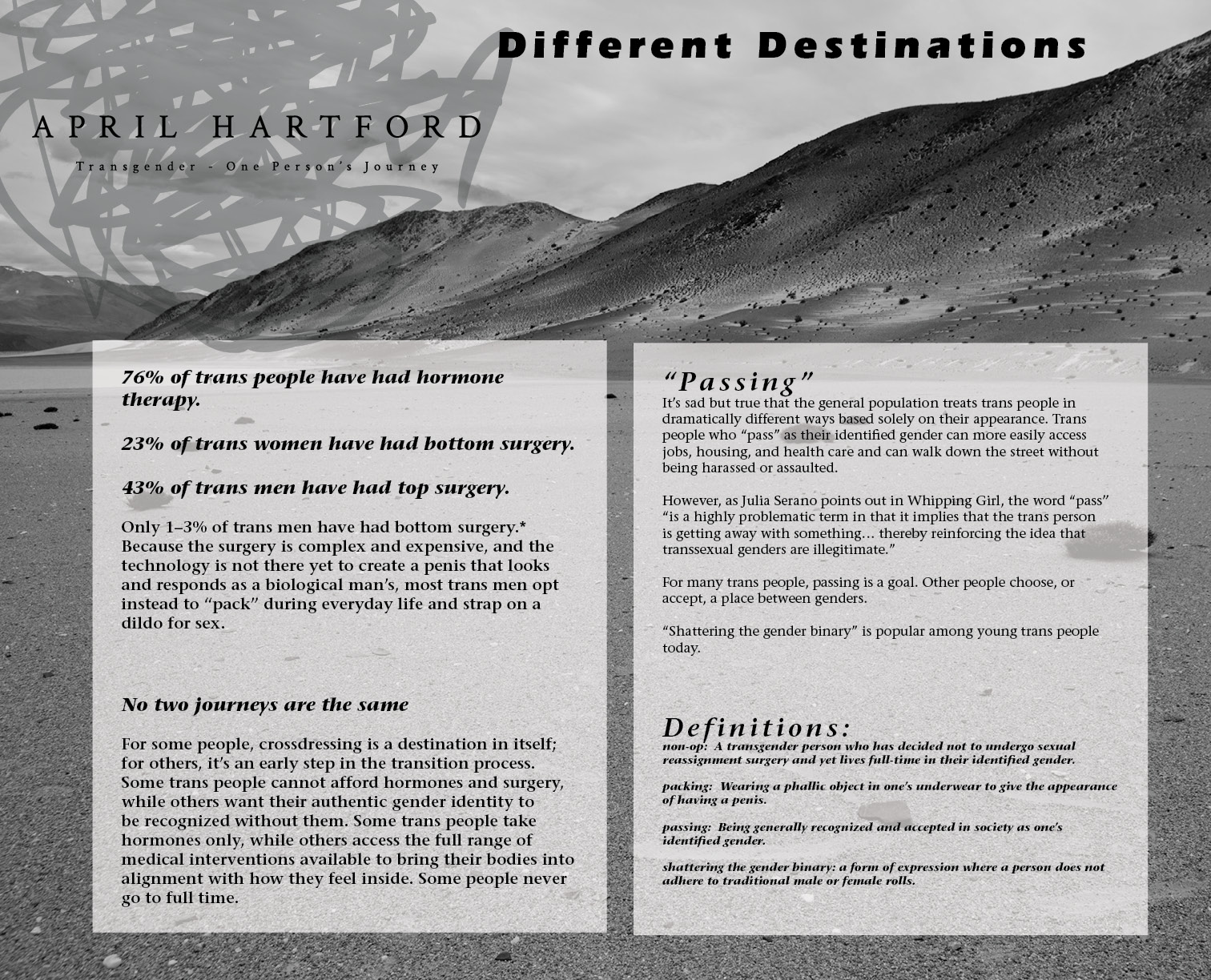 Different Destinations