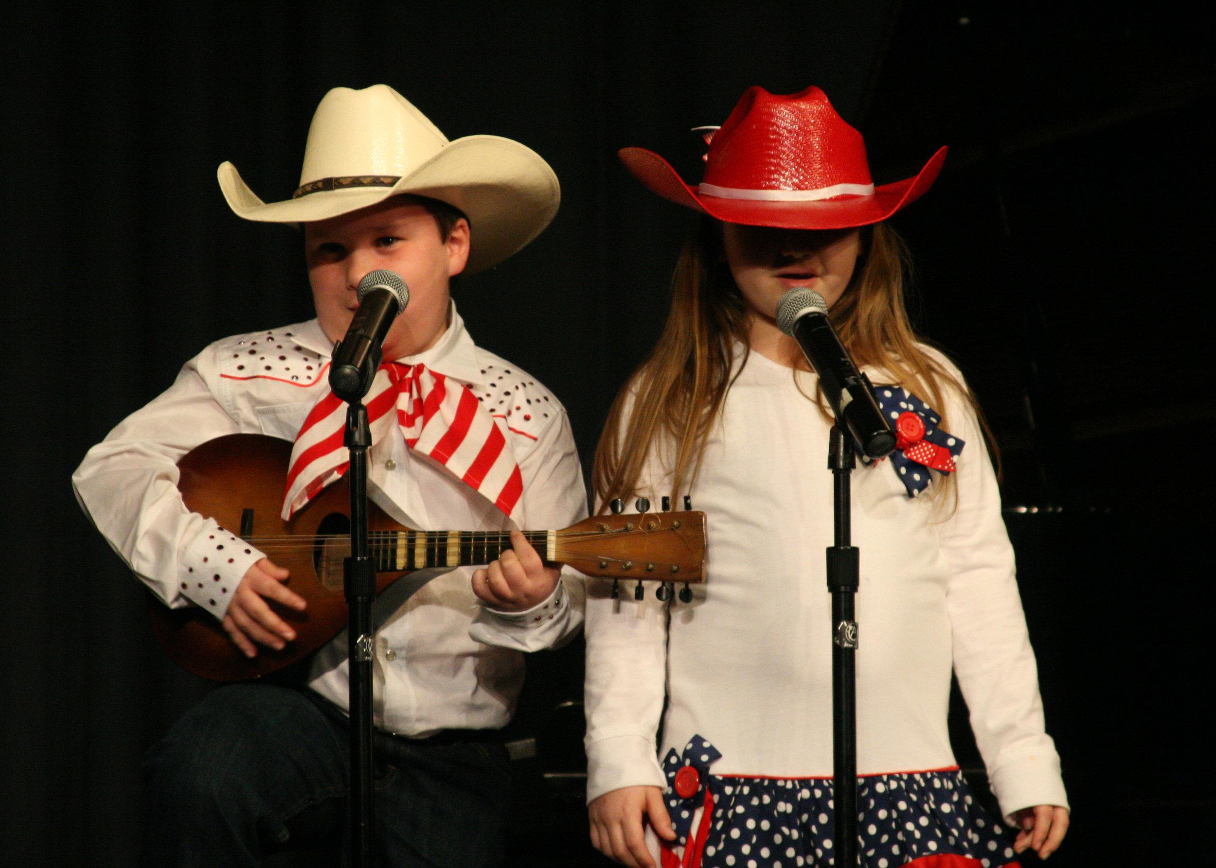 Elementary School Winner: Jack and Jillian Dixon of Silk Hope School. (Photo by Chip Pate)