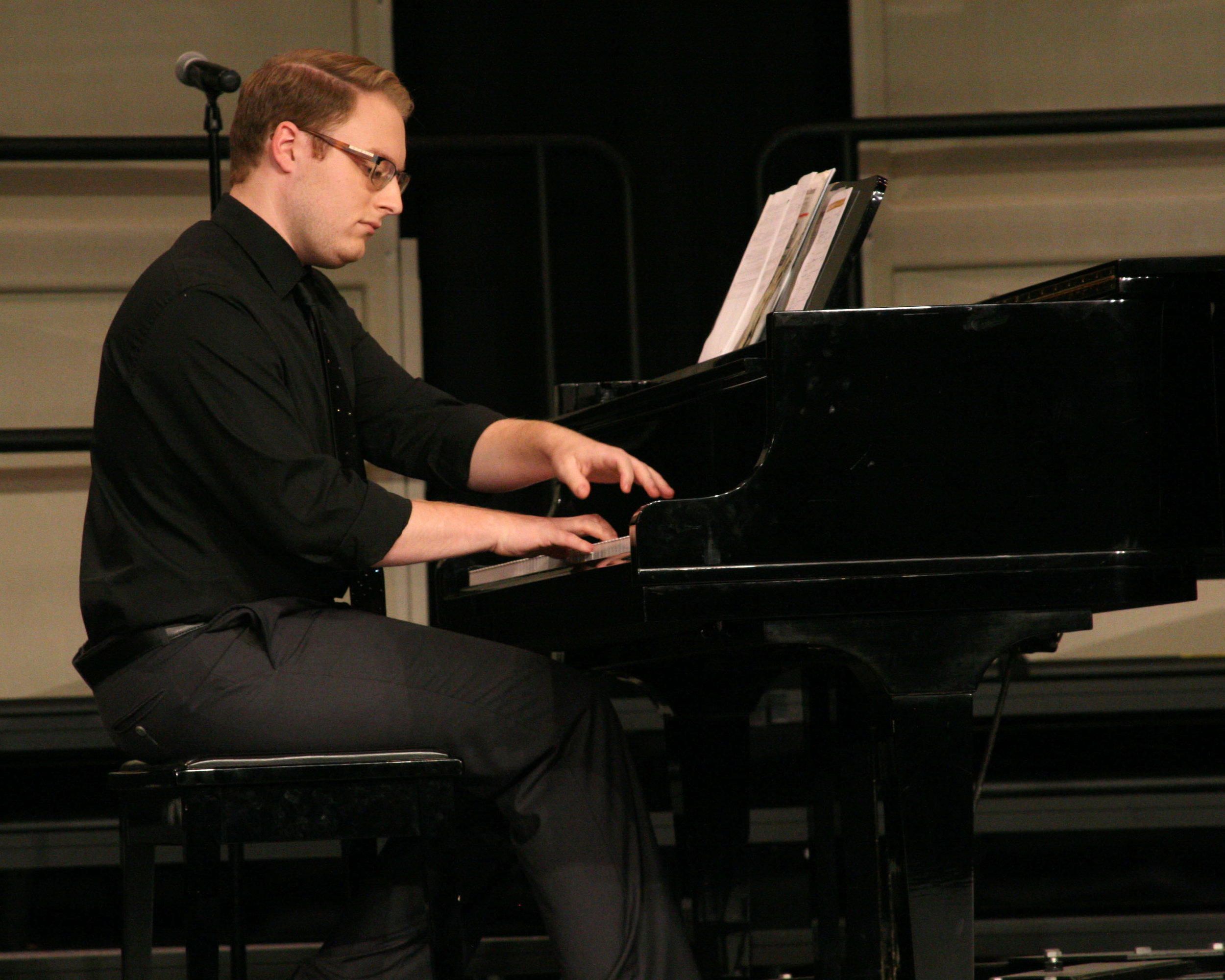 "Heath Smith appeared at Jordan-Matthews High School recently as pianist for Jennifer Trejo Benitez in her performance of ""Beyond My Wildest Dreams"" at the annual Music in May concert."