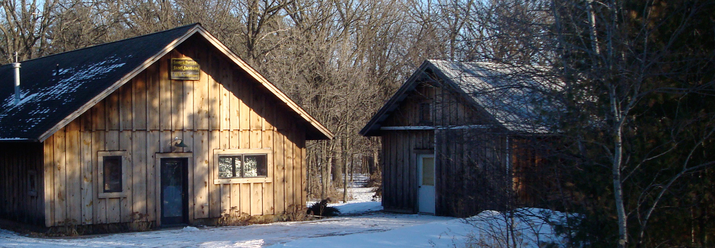 Sunrise Pottery Studio in Winter