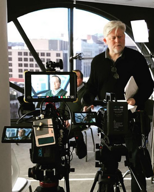 Director McKay Daines on the set of True Iran