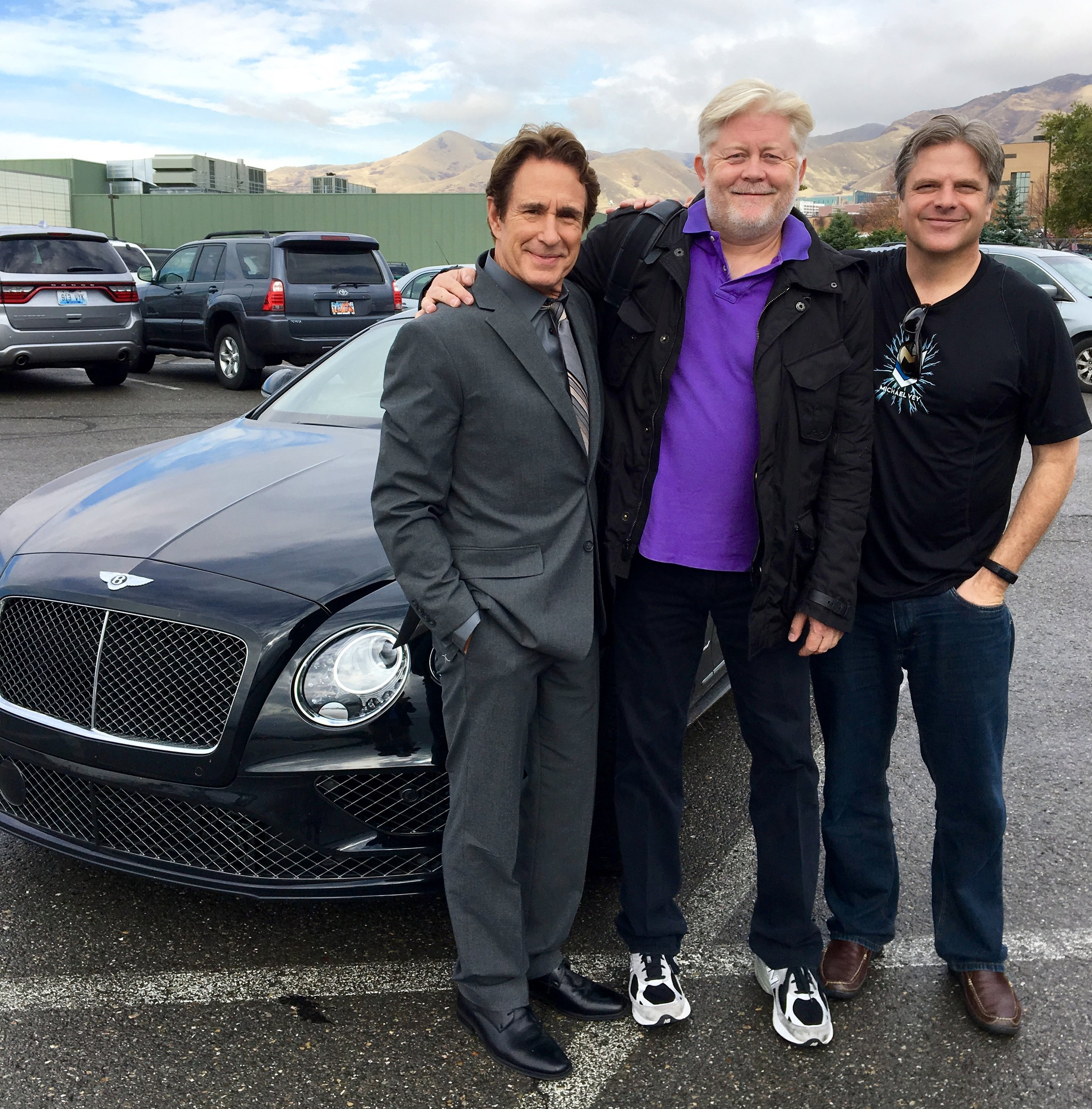 John Shea, McKay Daines and Richard Paul Evans meeting on Michael Vey production