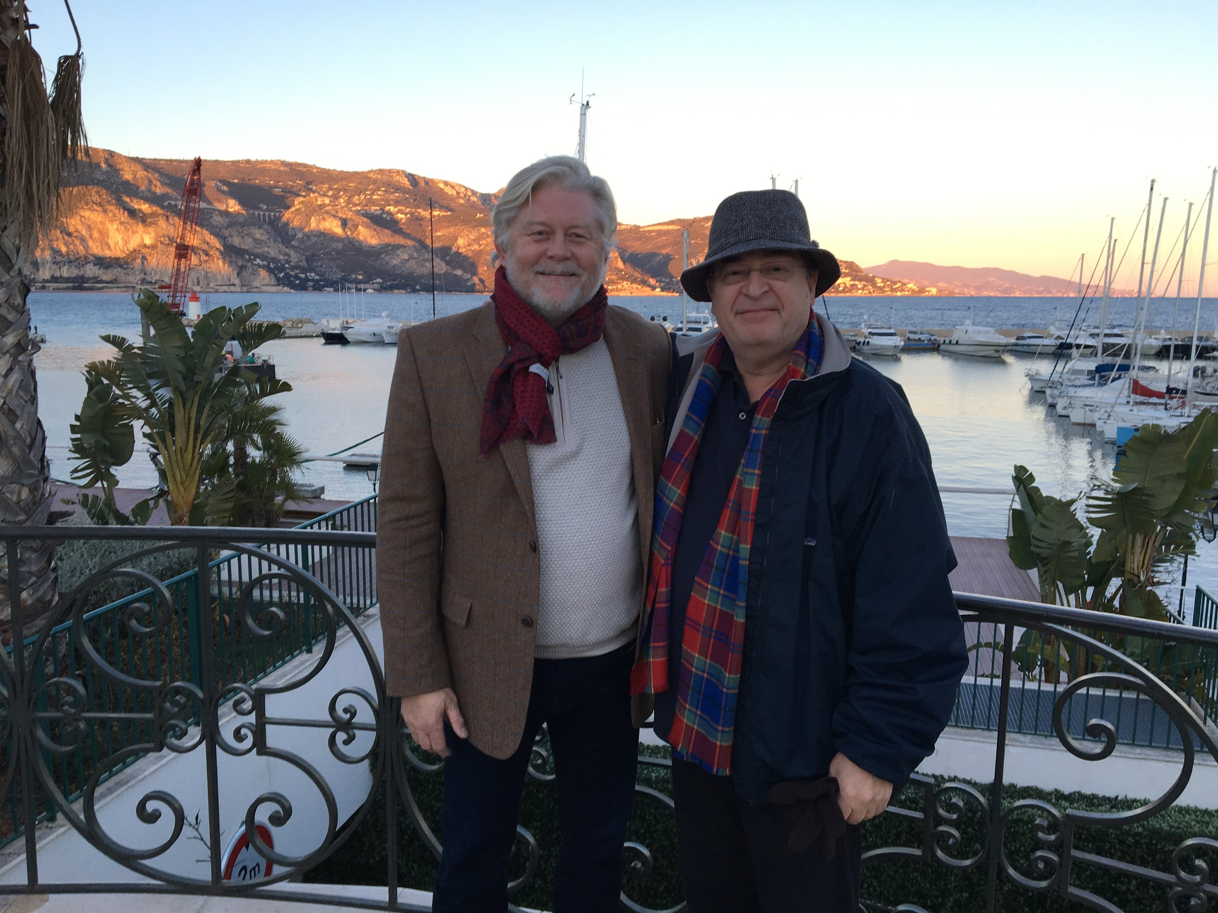 McKay Daines and Ron Maxwell in France working on Joan of Arc film