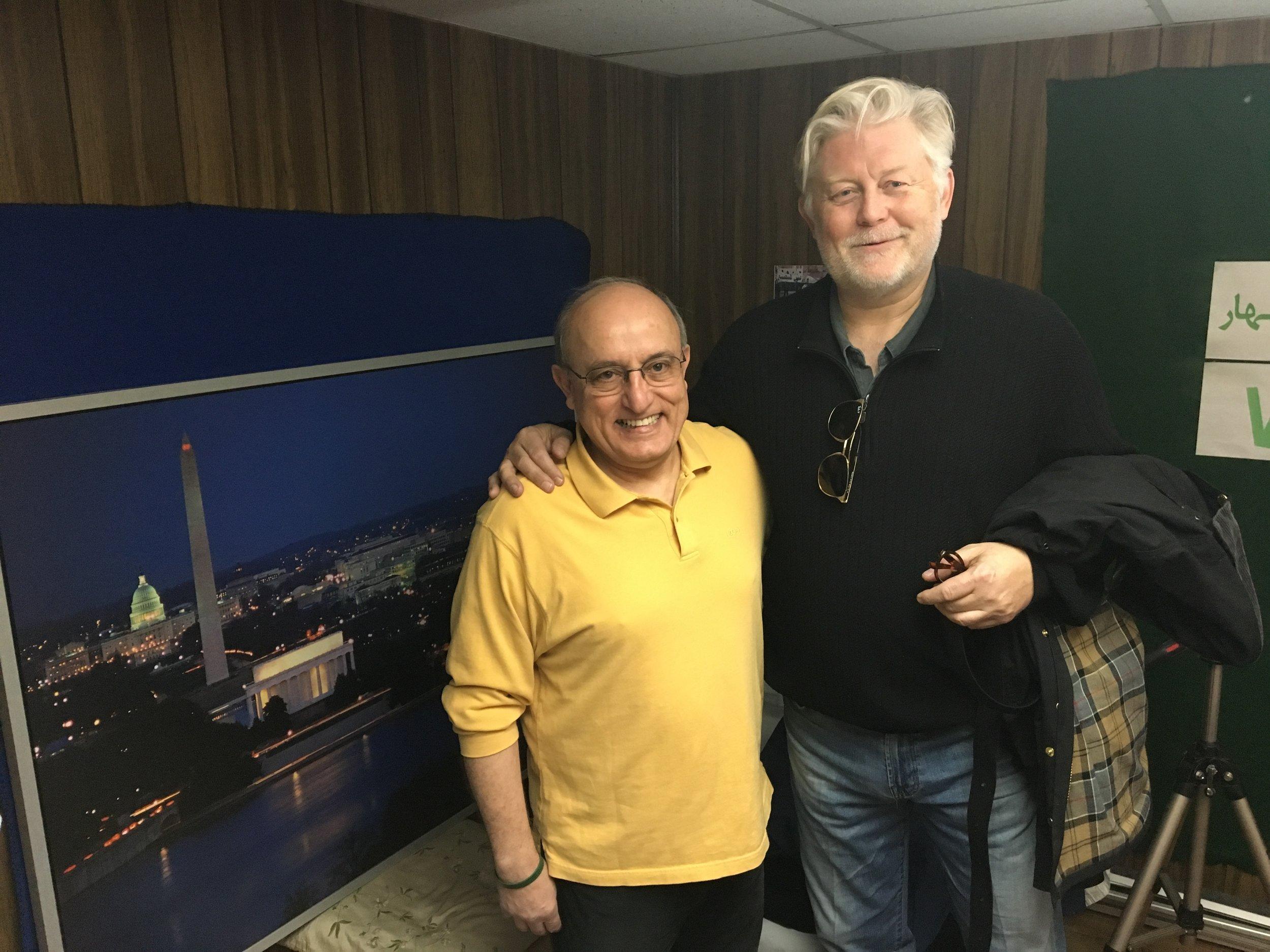McKay Daines directing Mohsen Sazegara, Iranian Journalist, for True Iran documentary