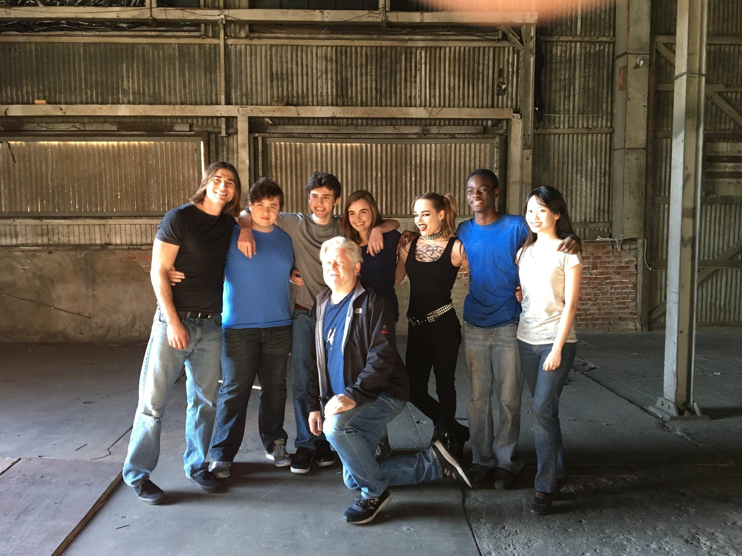 "McKay on set directing Michael Vey ""Glows"""