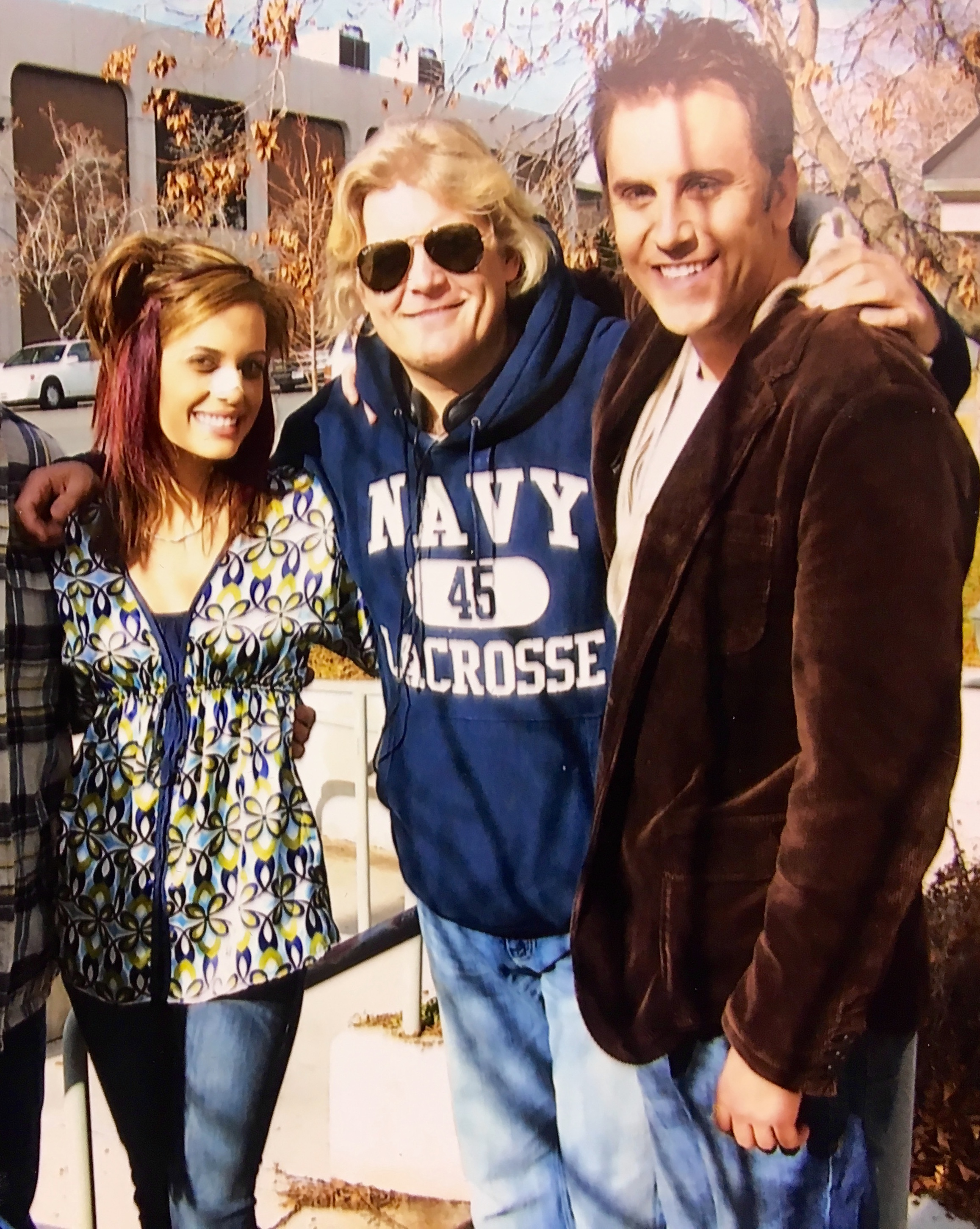 Torrey DeVitto, McKay Daines and K.C. Clyde on the set of Heber Holiday
