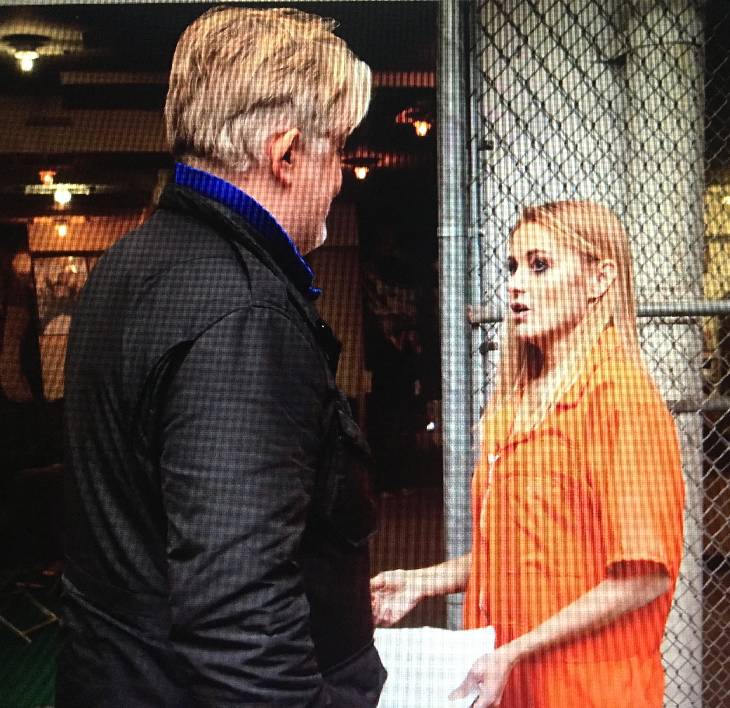 Directing with Louise Lombard on Michael Vey Cell 25