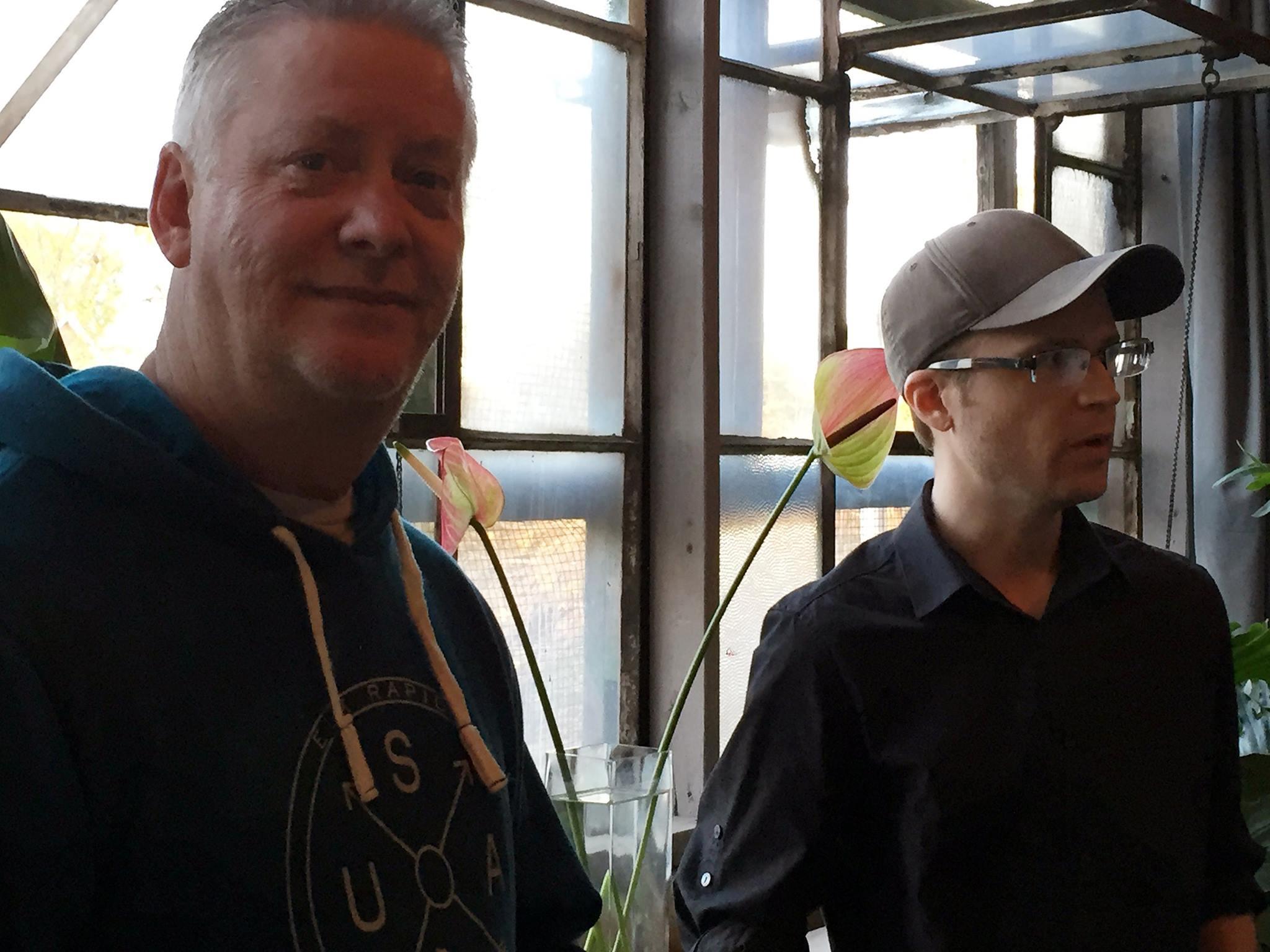 Tim Herron and Peter Greene (photo cred. Juan Quirarte)