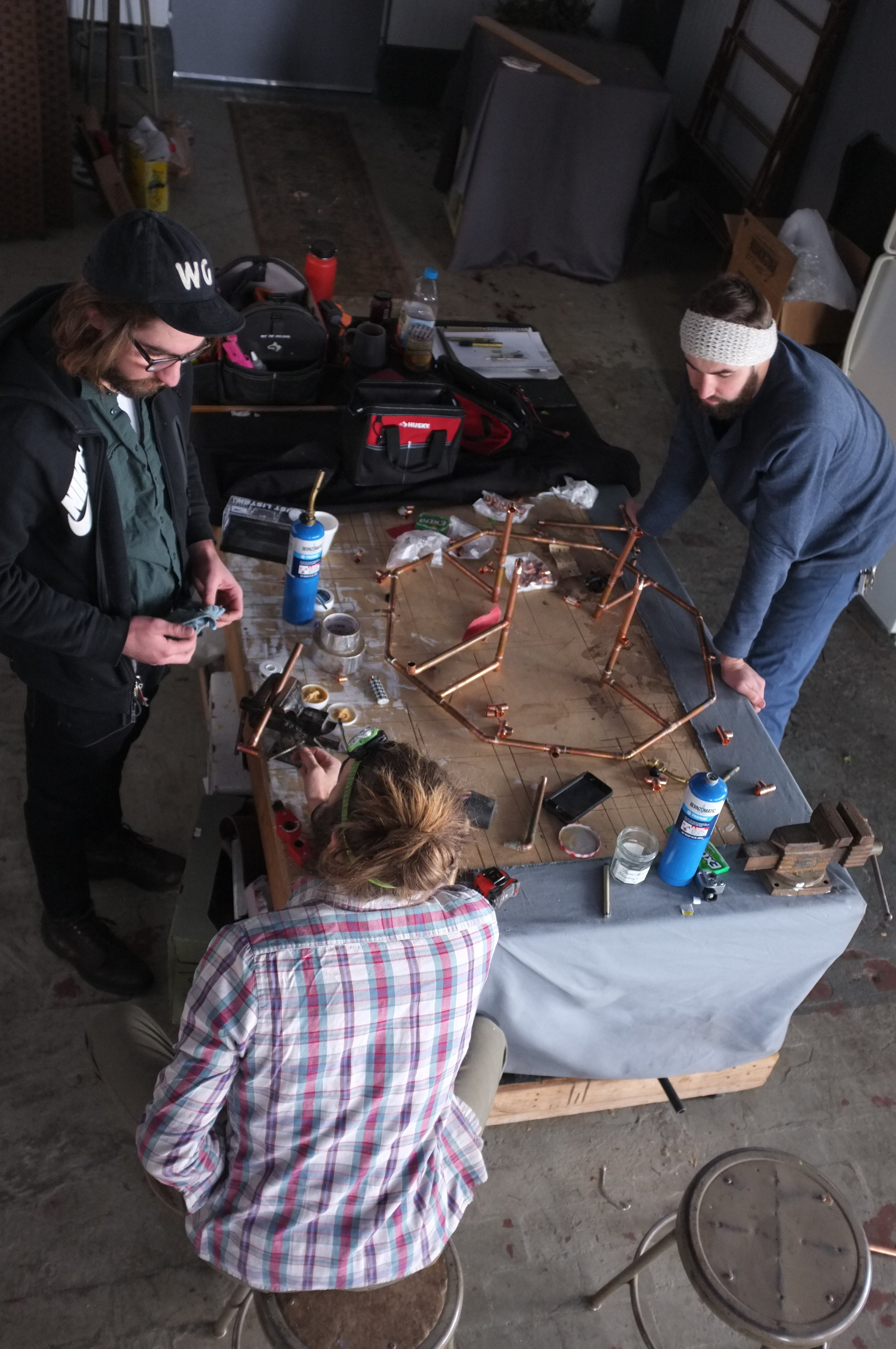 The Doherty Brothers making a chandelier
