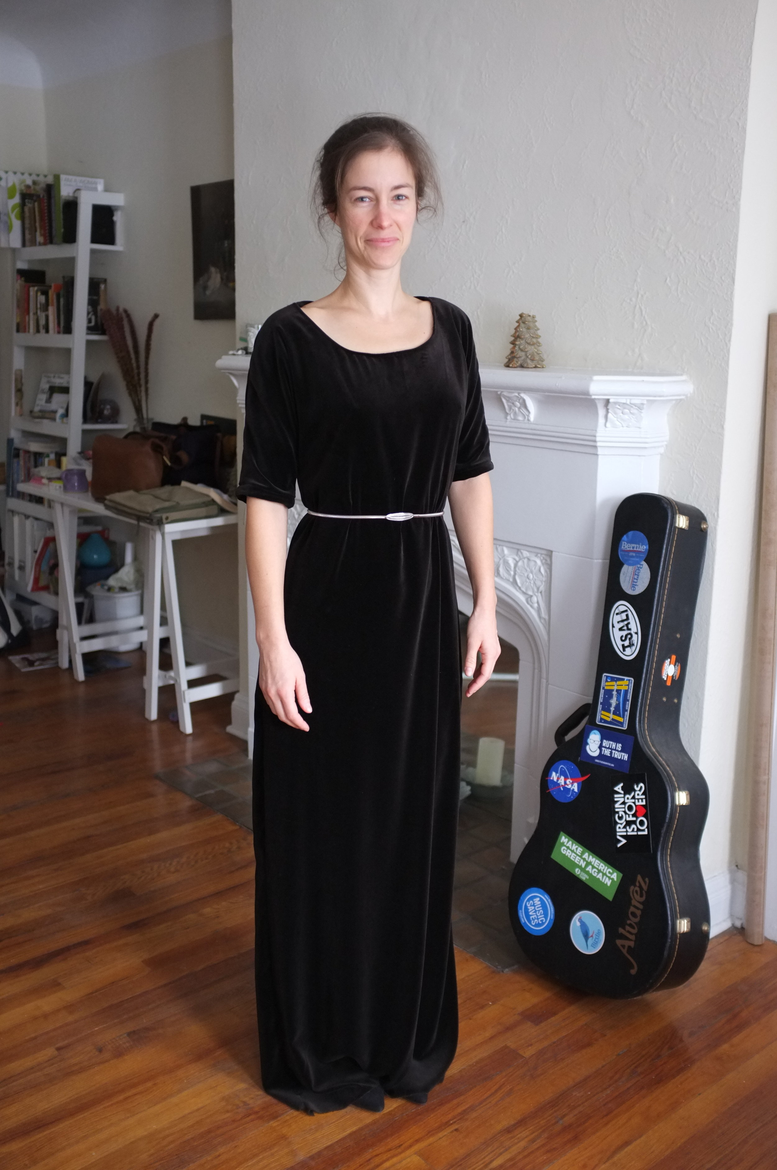 The dress Kristina made for the event