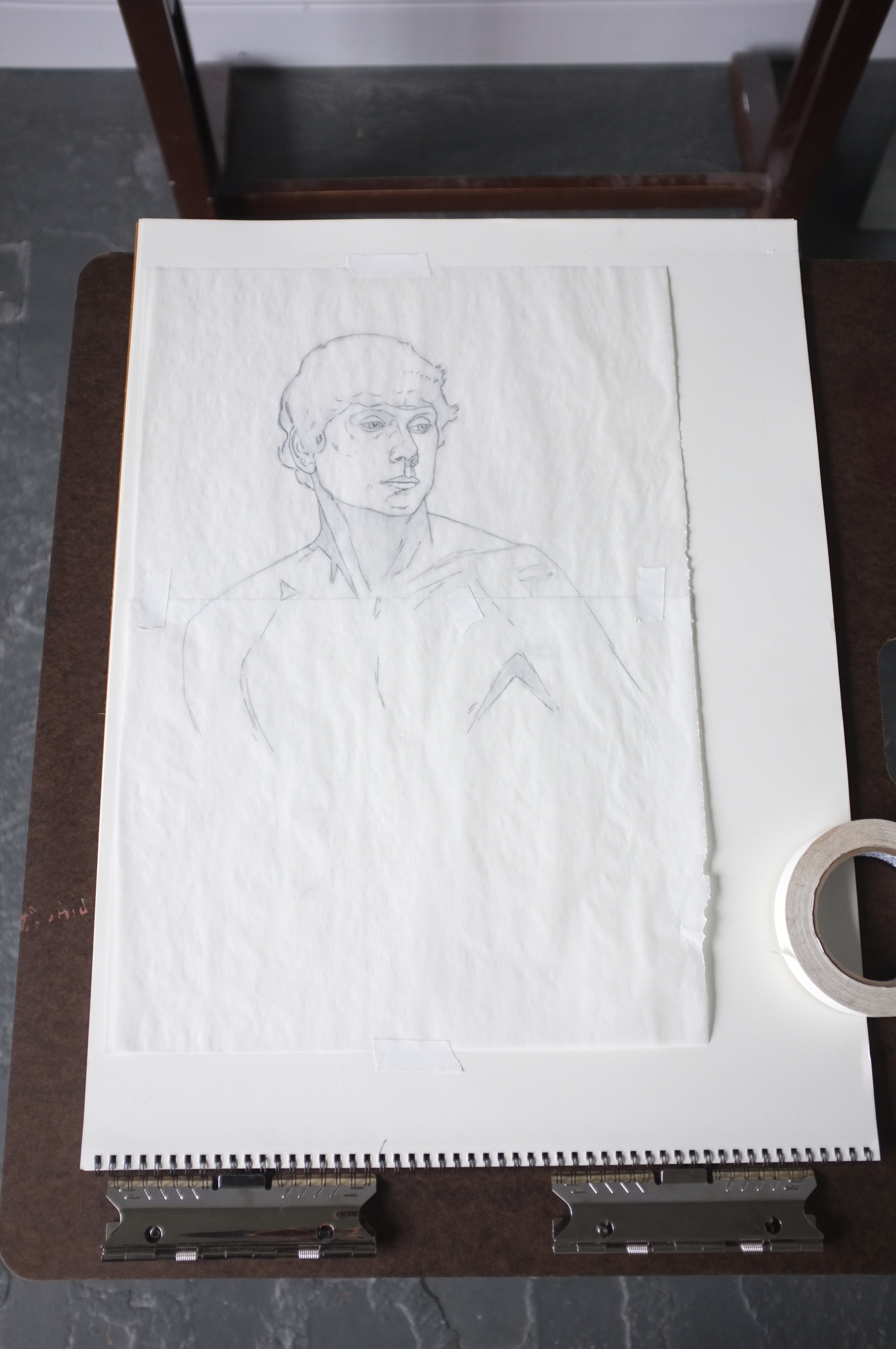 Here, I have copied the drawing onto tracing paper.