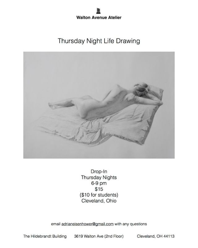 Starting this Thursday, life drawing at the atelier.