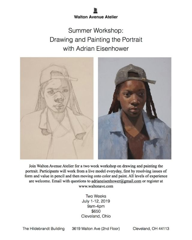 Excited to annouce a two week drawing and painting workshop in Cleveland this summer!