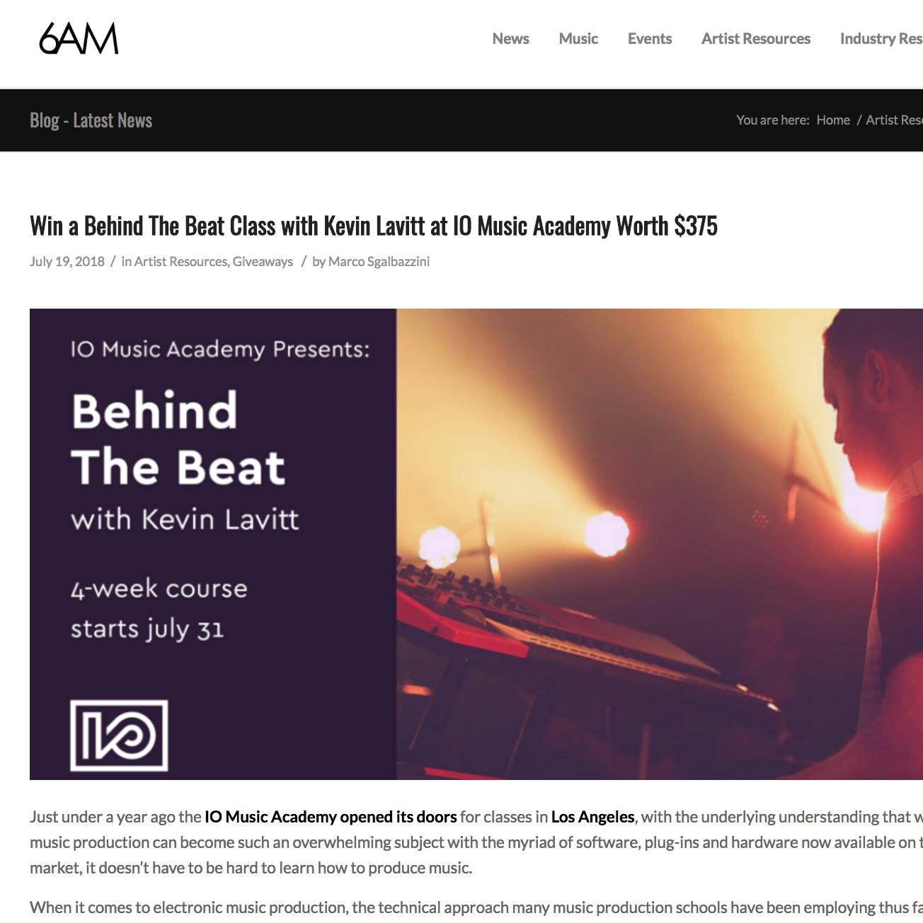 6AM_BehindTheBeat