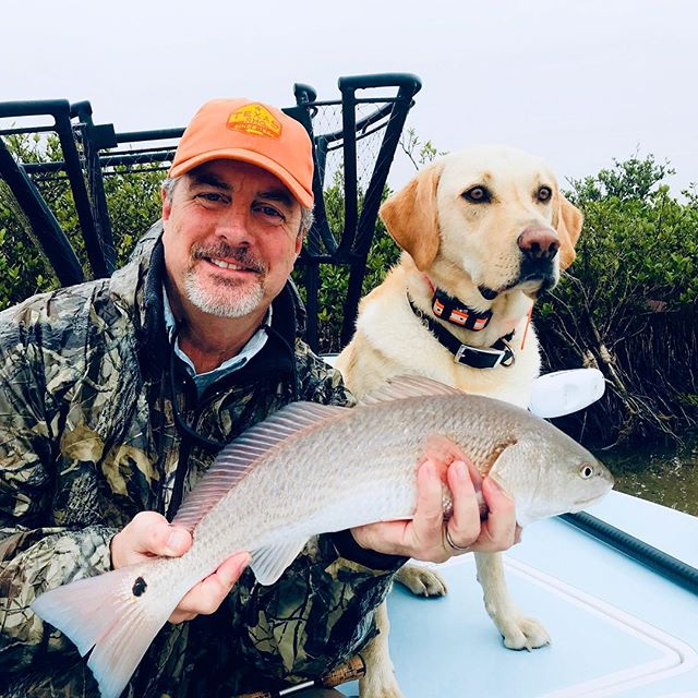 Had a fun day in the fog with Bryan and his lab Cash on Saturday on my first guide day of 2019. Tired of the rain and fog. Over 75 inches in POC in less than a year. . . . #fishing #fish #flyfishing #texasfishing #ocean #outdoors #adventure #guide #redfish #texasfishing #texas #skifflife #onthefly #wepursuit #tarpon #trout #fishingdog #fishingbuddy #jackcrevalle #gulfcoast #saltwaterfishing