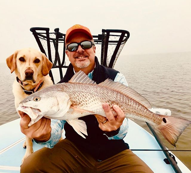 Another shot of Bryan and his lab Cash! . . . . #fish #fishing #fishinglife #wepursuit #fishingdog #guide #fishingbuddy #skifflife #ktdiaries #outdoors #saltwaterfishing #ocean #gulfcoast #texas #texasfishing #flyfishing #onthefly #flyrod