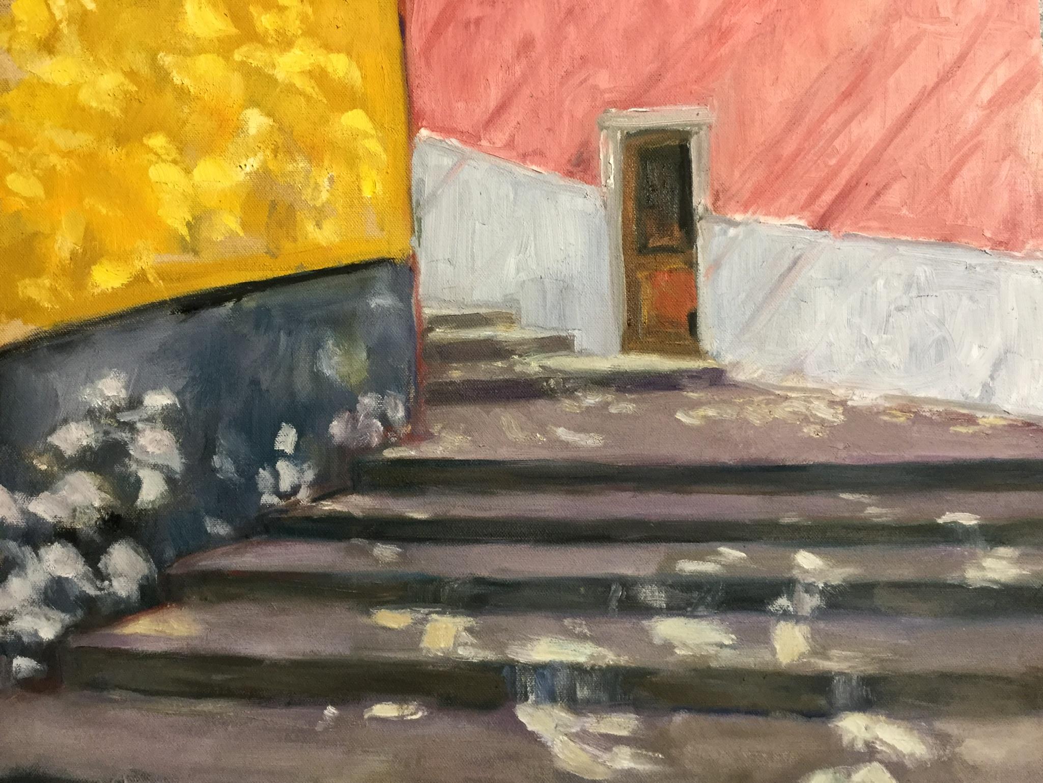 """Stairway, Riomaggiore, Cinque Terre     16"""" x 20"""""""