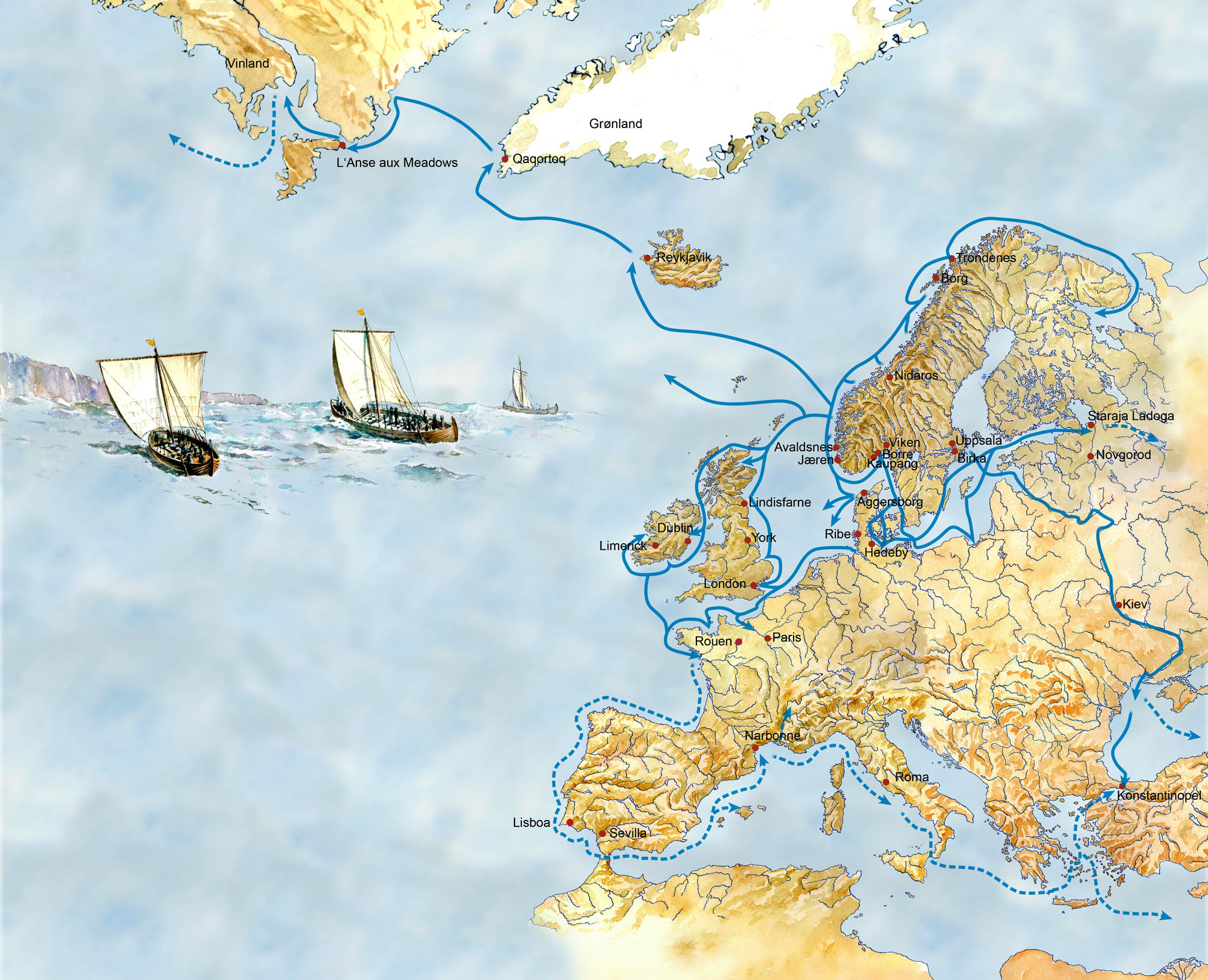 The Vikings sailed over vast distances, from America in the west to Asia Minor in the east, and perhaps even farther. This suggests that the written sources are right: Viking ships were unique for their time.