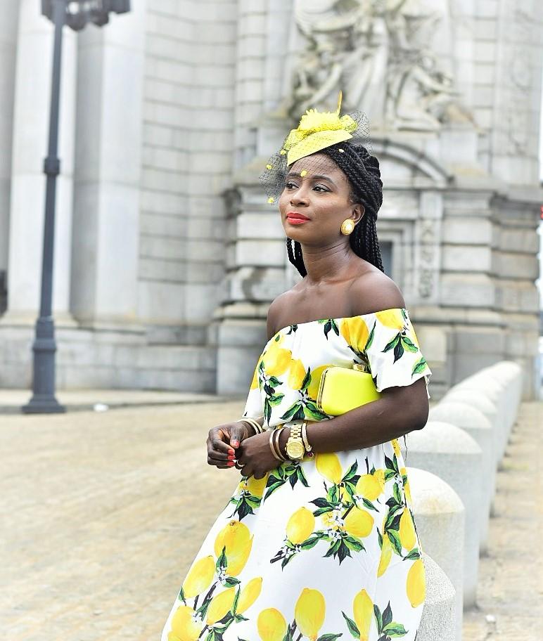 Lemon-Print-Dress