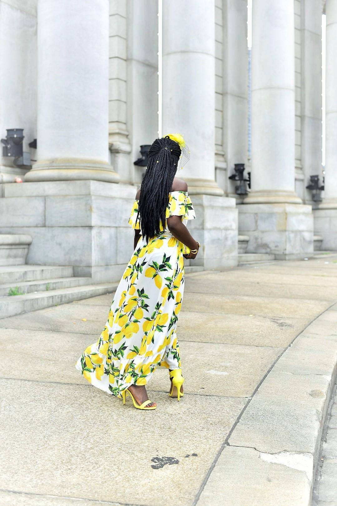 Lemon-Print-Dresses