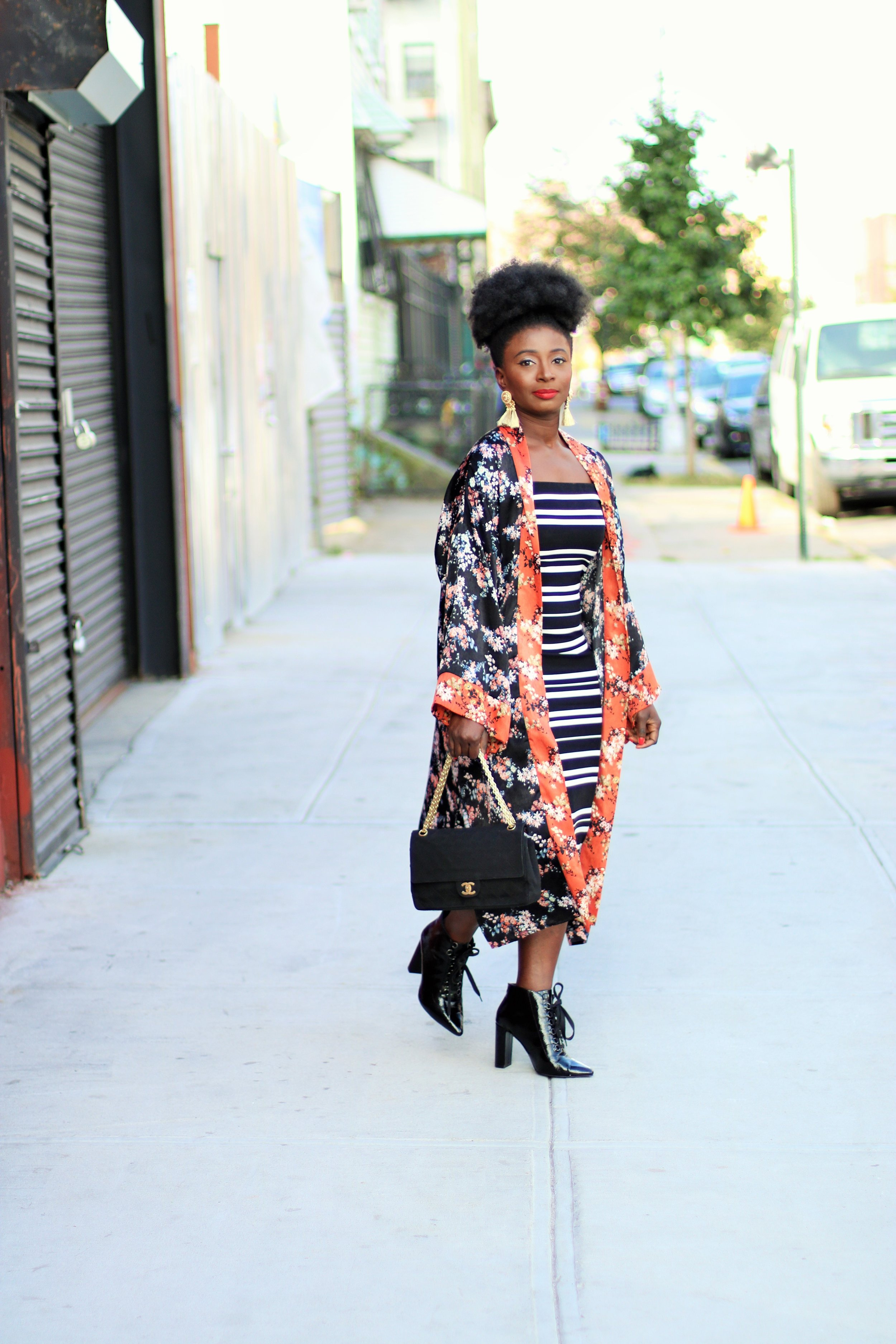 Floral-Kimono-And-Stripes-Dress-Outfit