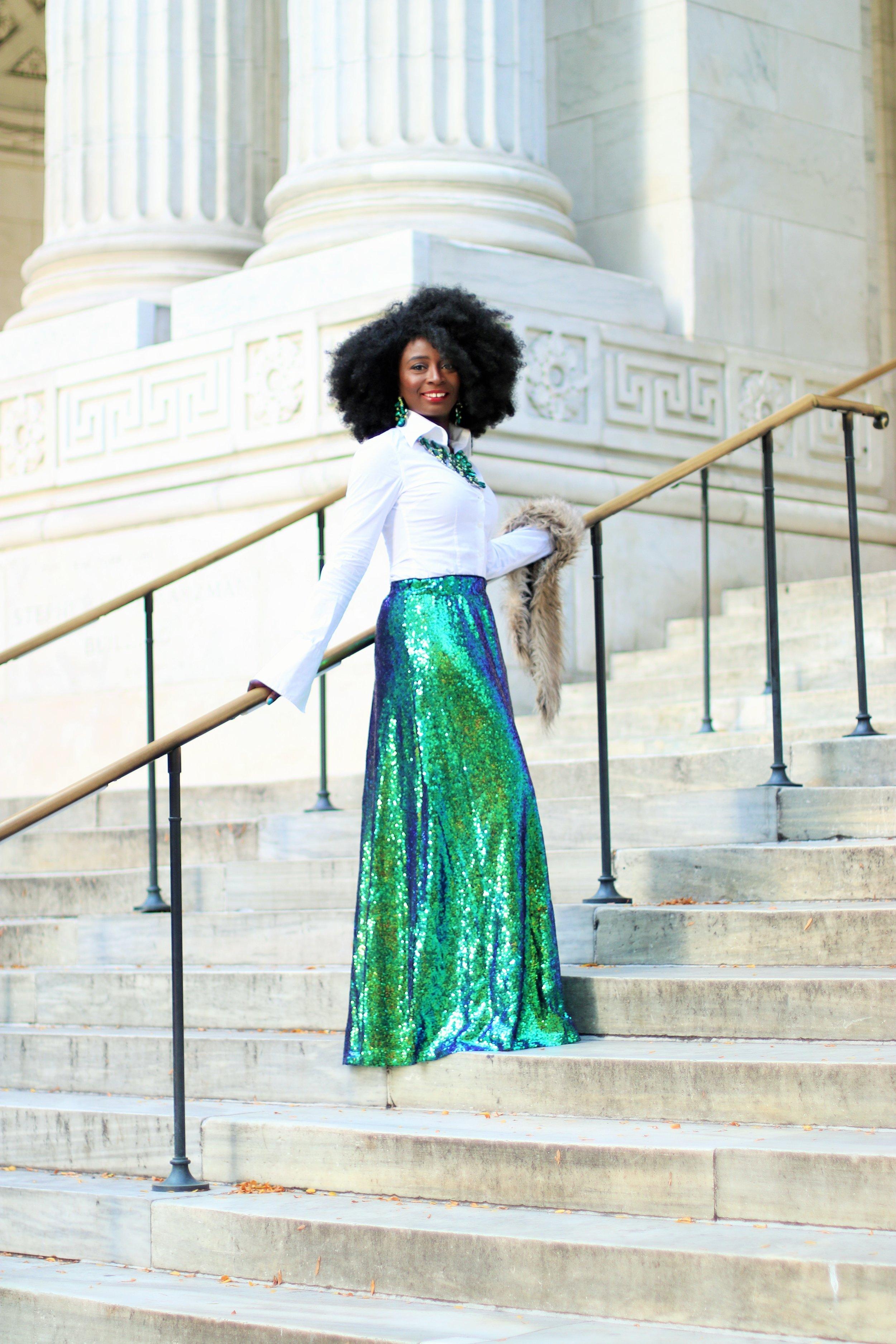 Street-Style-Sequins-Skirt