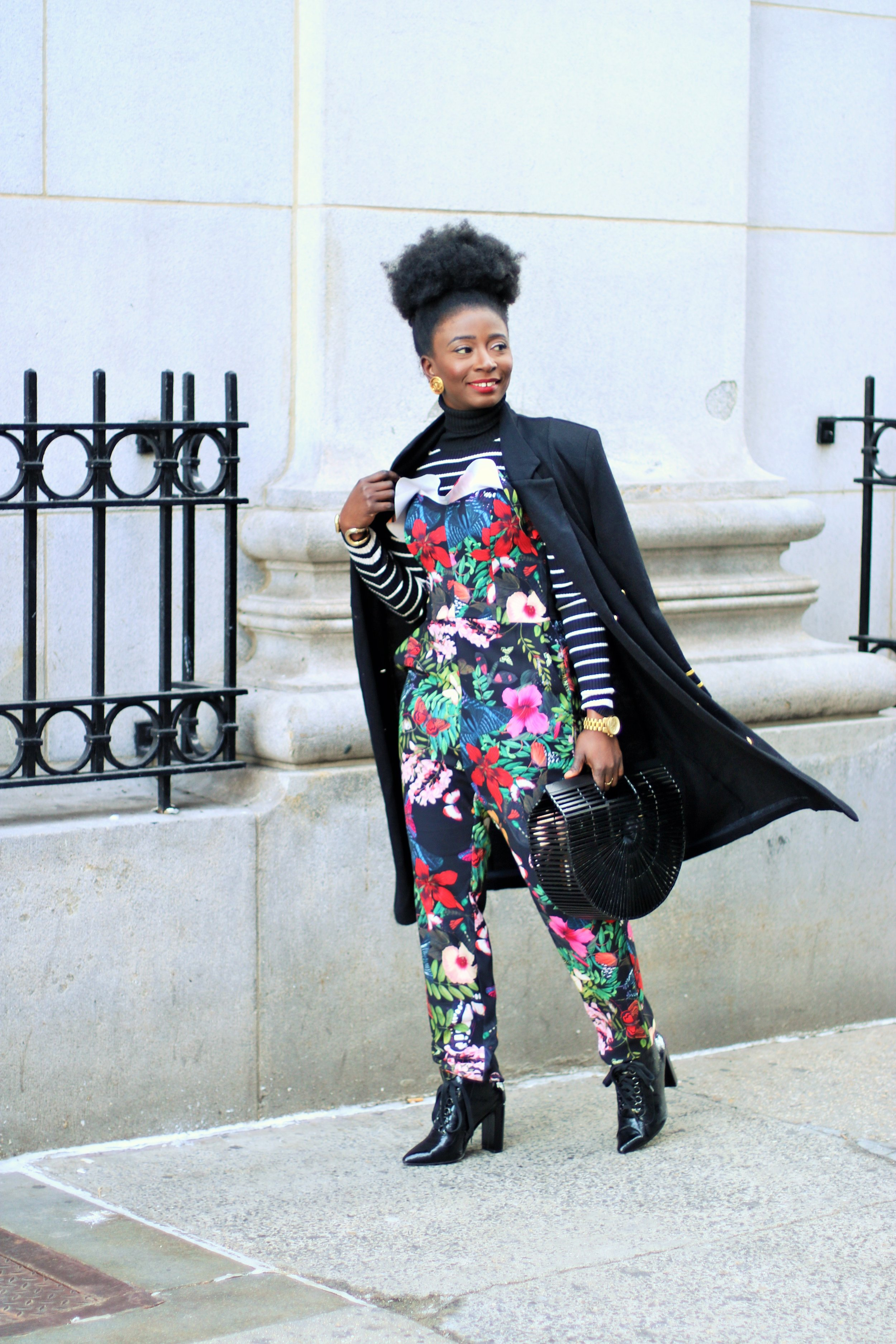 Street-Style-Floral-Print-Overall